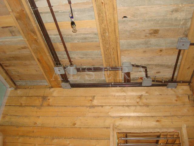 Электрика своими руками в деревянном доме фото